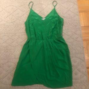 Amanda Uprichard Green Silk Dress